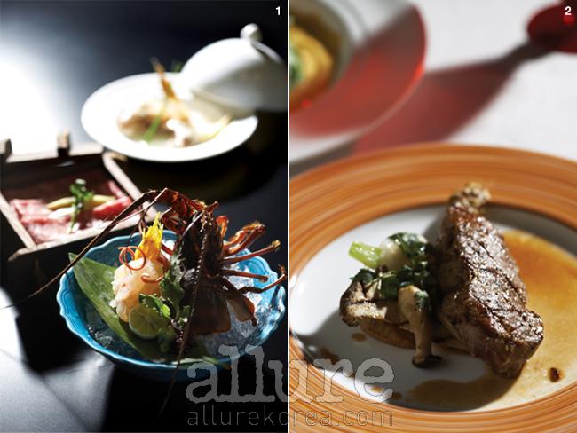 1. 가이세키 요리에는 일반적으로 해산물 사시미가 포함된다. 2. 아나 크라운 호텔 내에 위치한 스카이라운지 레스토랑인 레벨 36에서 맛볼 수 있는 고베규 스테이크. 3. 고베 시내에 위치한 사케 박물관에 가면 사케 만드는 전 과정을 한눈에 볼 수 있다.
