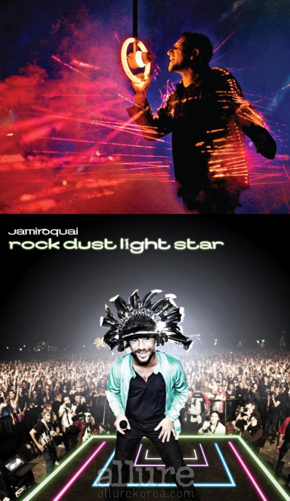 (위) 한국에서 만날가능성이 전무하다는 비관론이 팽배한 U2. (아래) 자미로콰이의 내한공연은 국내 공연 기획사와 자미로콰이측의 신뢰관계를 바탕으로 이루어졌다.