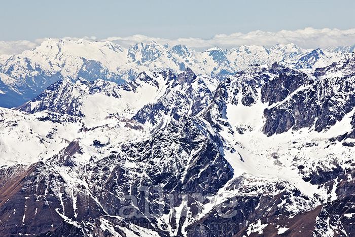 마터호른 글라시어 파라다이스 전망대에서 바라본 웅장한 알프스 산맥의 전경.