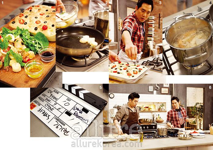 1, 2, 3, 4.  샘 셰프의 주도로 감자 포카치아 빵과 구운 해산물 샐러드를 만들었다. 완성 후에는 다시 레이먼 셰프가 셰퍼드 파이와 대파 수프를 만든다. 두 셰프의 대화는 그대로 음식을 만드는 팁이 된다. 5.  하정석PD 역시 요리하는 남자. 6.  액션과 리액션이 어우러지며, 즉흥적이고 흥겨운 음식이 완성된다.