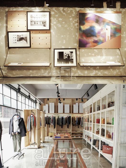 1. '소년'을 주제로 한 'Boy Myself' 팀의 작품들. 2. 복합문화공간 'H Store' 1층의 전경.