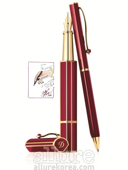 칼 라거펠트가 디자인한, 몽 듀퐁 프리스티지 라인의 만년필과 볼펜.