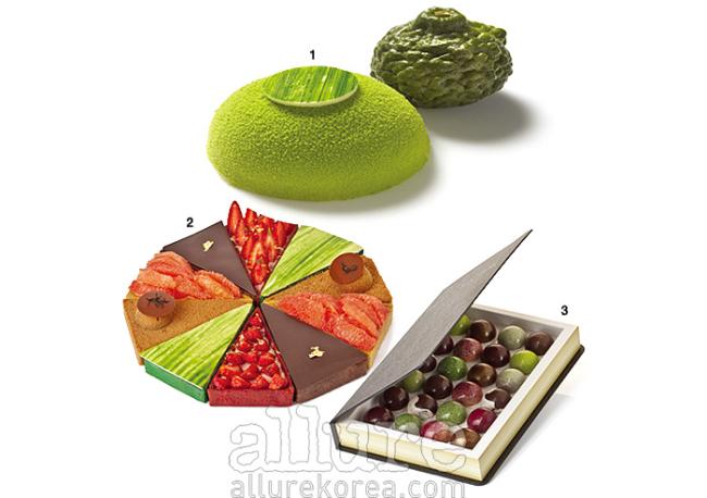 1. 비행기 타고 온 프랑스 셰프의 달콤한 디저트. 2. 타르트는 조각으로도 판매한다. 3. 24개의 스피어즈가 들어 있는 박스.