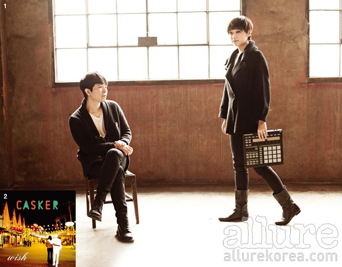 1. 겨울의 끝에서 만난 캐스커의 준오와 융진 2. 지난 12월에 선보인 싱글 앨범