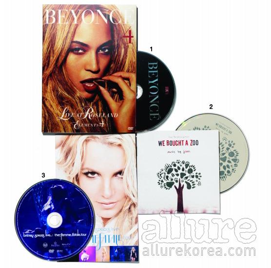 1. 비욘세의 뉴욕 라이브 실황을 담은 DVD. 2. 시규어 로스의 욘시가 음악을 맡은  O.S.T. 3. 브리트니 스피어스의  투어 DVD.