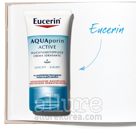 유세린의 아쿠아포린 액티브 모이스춰라이징 크림 라이트. 피부 속 수분망인 아쿠아포린의 개수를 증가시켜 수분 공급을 활성화한다. 40ml 4만1천원.