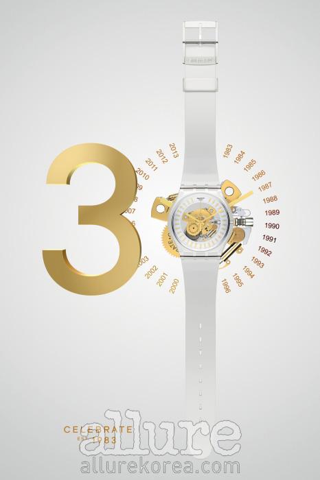 스와치 탄생 30주년을 기념하는시계 'Swatch Est, 1983'