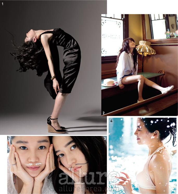"""1 2007.5 김연아""""김연아의 첫 패션화보였던것으로 기억한다. 김연아는 소녀같았고, 또 소년 같은 매력도풍겼다. 스케이트를 신을 땐 빠르고정확한 손놀림에 놀랐던 기억.촬영하면서 스핀 할 때 어지럽지않냐고 물었더니 그녀가 그랬다.""""어지러워요."""" - 이건호(사진가) 2 2008.5 이요원""""화보 촬영보다 그냥 호주 곳곳을 여행하듯 다니고 싶었어요. """"- 이요원 3 2007.2 공효진&이영진""""친구 공효진과 함께캄보디아로 떠났던 특별한화보예요. 오랜 친구인데도단둘이 여행 간 적이없었거든요. 다녀와서글도 제가 여행기처럼썼어요. 촬영을 해준 보리언니까지, 꾸미지 않은자연스러운 모습을 남길수 있었어요. 보리 언니덕분에 더 특별해진 그시간들이 지금도 기억에남아, 가끔씩 웃을 수있어요."""" - 이영진 4 2007.5 이보영수영복을 입고 촬영해본 적이 단 한 번도 없다던 당시의 이보영에게 처음으로비키니를 입혔던 순간이다. 지금 생각하면 먼저 스위스의 작은 마을이라는 '공간'이그녀의 마음을 이완시켰고, '물'이라는 요물이 여배우를 어린아이로 되돌린 것이다.참, 그냥 물은 아니고 따뜻한 해수였다! - 강미선(뷰티 디렉터)"""