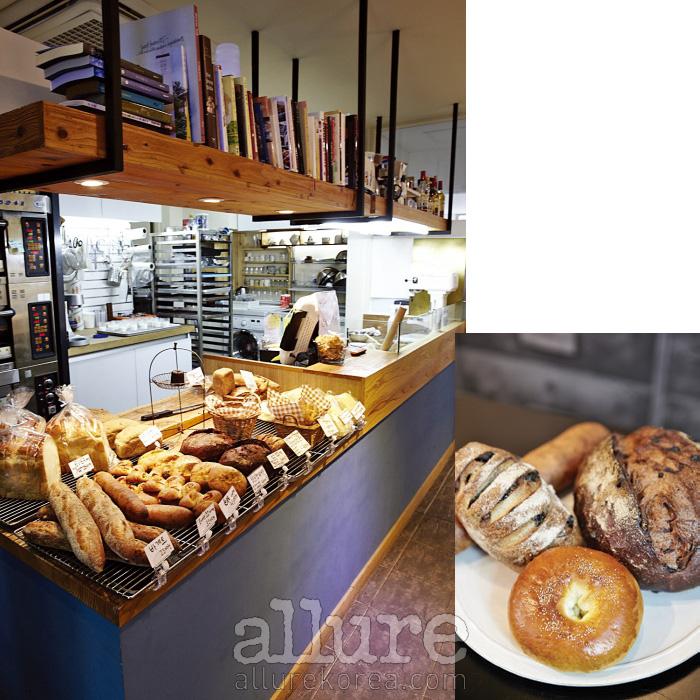 서촌의 느긋한 빵집 슬로우브레드에버에서 중요하게 생각하는 것은 밀의 조합이다. 투박한 생김새와 달리 진하고 또렷한 맛을 자랑한다.
