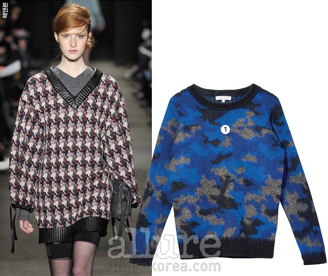 1 울 소재 니트 스웨터는 30만원대, 산드로(Sandro).