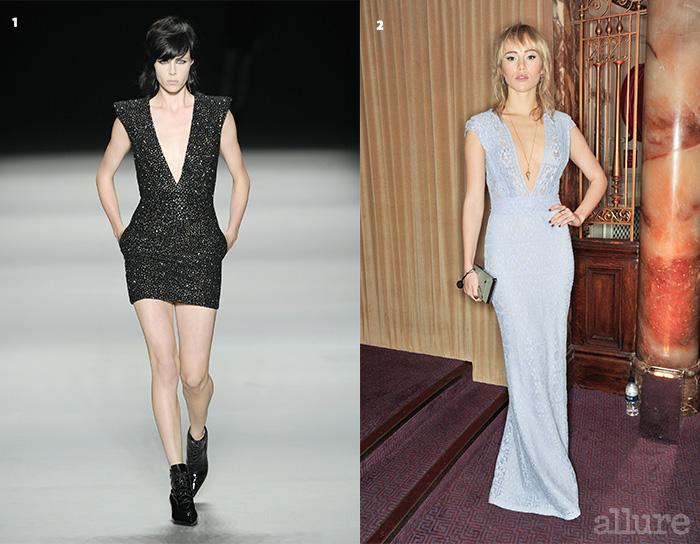 1 2014 봄/여름 생 로랑 쇼의 문을 연 에디 캠벨. 2 2013 영국 패션 어워드에 참석한 수리 워터하우스.