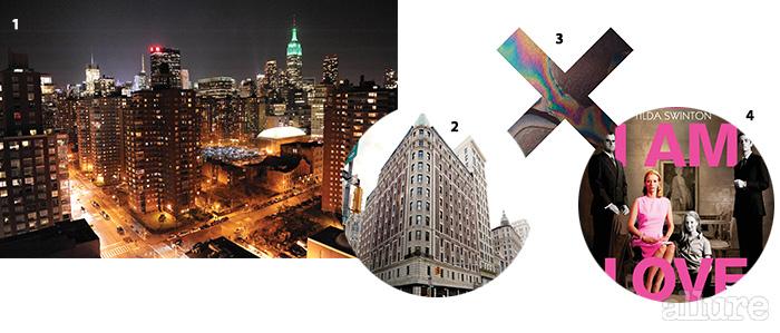 1 뉴욕 맨해튼 야경. 2 뉴욕의 힙한 호텔인 에이스 호텔의 전경. 3 더 엑스엑스의 2집 '코엑시스트(Coexist)'. 4 영화   포스터.
