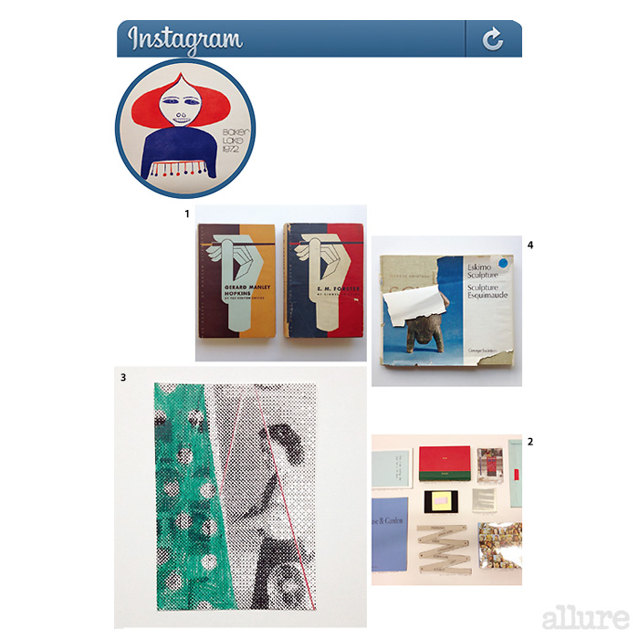 1 지금 봐도 세련되고 감각적인 표지 이미지. 2 북 페어에서 테이블 위에 펼쳐놓은 것들. 3 핸드메이드 크리스마스 카드. 4 조지 스윈튼의