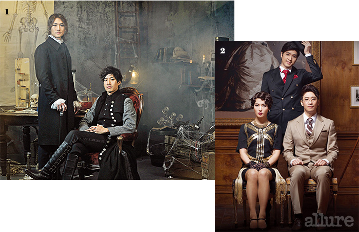 1 의 두 배우, 박은태와 유준상. 2 .