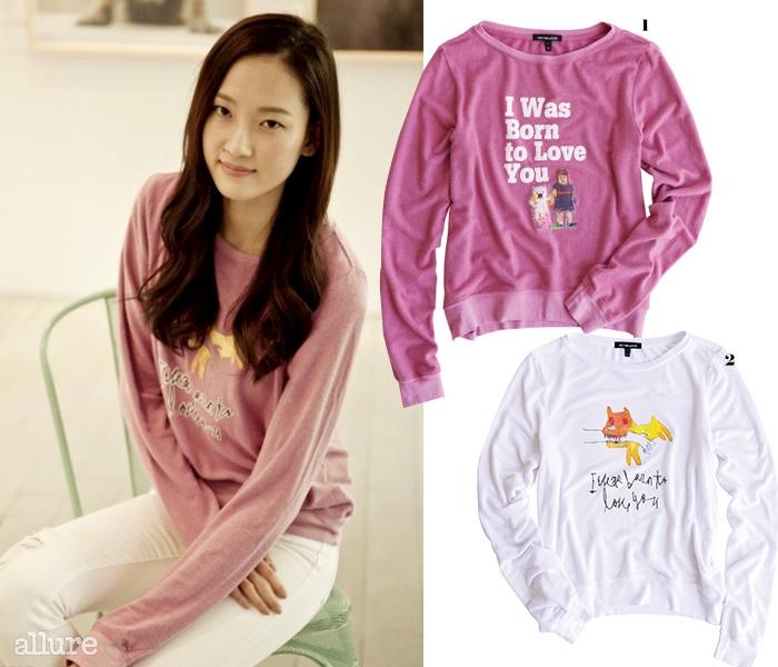 1 면 소재 티셔츠는 6만9천원, 혜박앤룬(Hye Park&Lune). 2 면 소재 티셔츠는 6만9천원, 혜박앤룬.