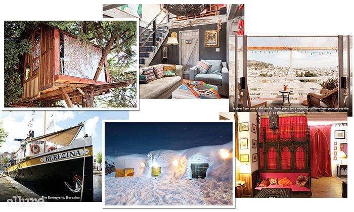 세계적인 숙박 공유사이트 에어비앤비에 등록된 숙소는 60만 개가 넘는다. 나무 위의 집부터 이글루, 고성, 선상가옥에 이르기까지, 우리가 살고 있고 꿈꾸던 모든 형태의 집이 여기 있다.