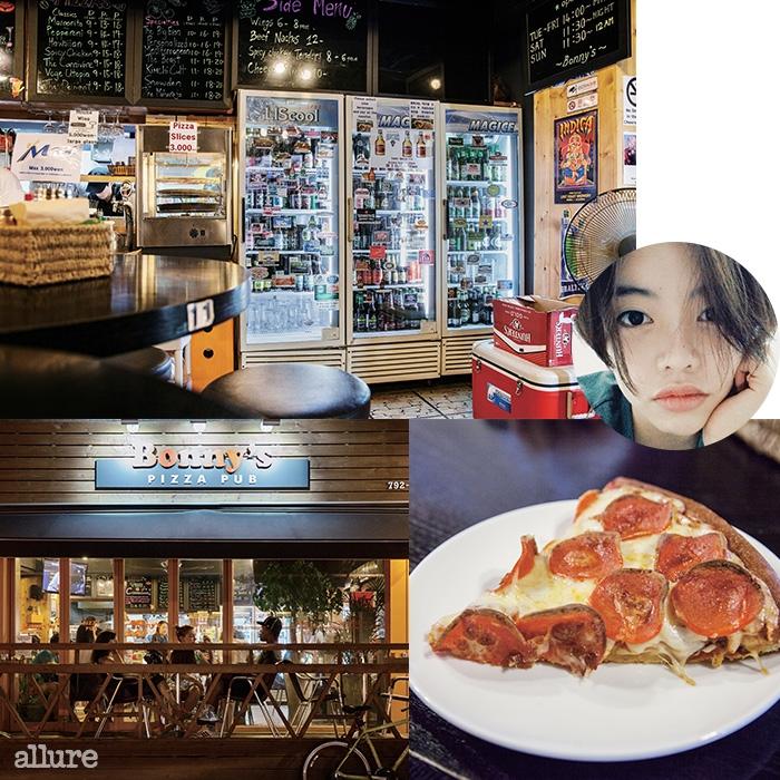 해방촌의 보니스피자펍은 이탈리아식 피자에 밀려 잊고 있던 미국식 피자의 맛을 일깨운다. 두툼한 페페로니 피자는 명불허전.