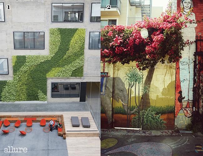 1 에어비앤비의 새로운 사옥. 3층에서 로비를 내려다봤다.2 컬러풀한 미션 지구의 그래피티.