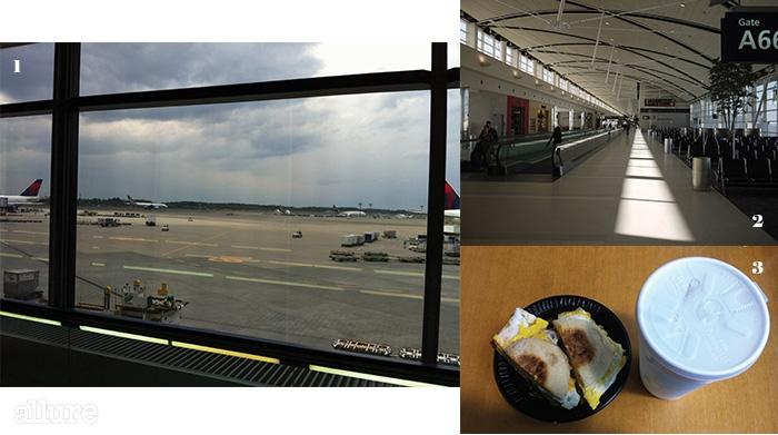 1 언제 봐도 시원한 공항활주로. 2 사람들이 바삐오가는 공항 풍경.3 출출하면 먹을 수 있는다양한 식당이 있다.