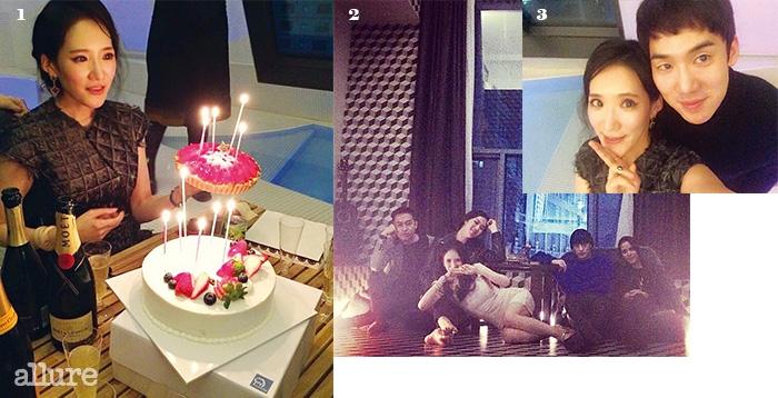 1 파티에 빠질 수없는 케이크. 2 호텔소설에서의 즐거운 파티.3 파티의 게스트인유연석과 함께.