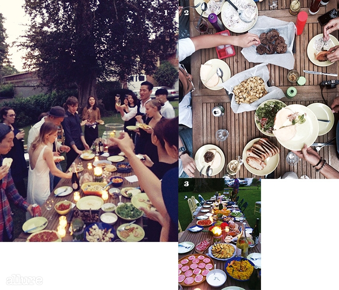 1 파리에서 열린 친구의 웨딩 파티. 2, 3 프랑스친구들을 위해 한국 친구들이 정성스럽게 준비한 음식들.