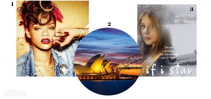 1 좋아하는 뮤지션은 리한나. 2가장 좋아하는 도시는 시드니. 3영화 <이프 아이 스테이>.