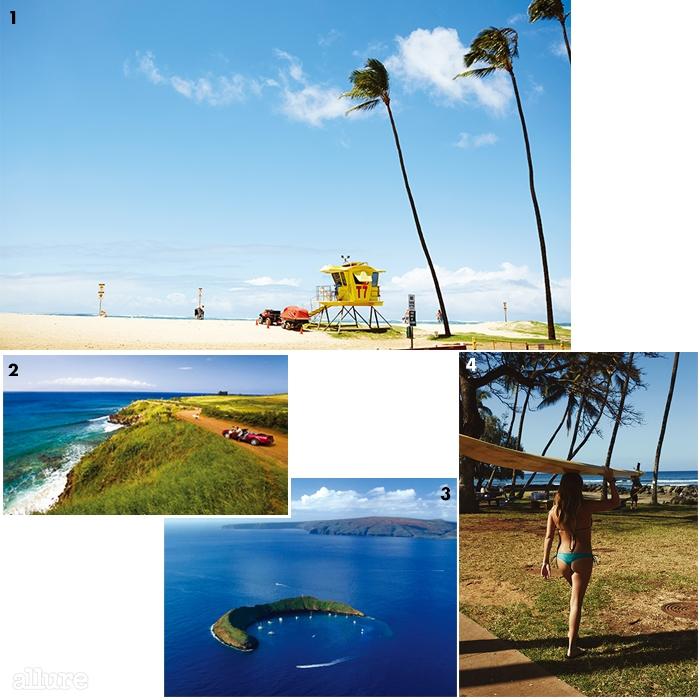 1마우이 북부에 위치한 파우이 해변.2드라이브 중 자꾸 차를 세우게 하는마우이의 멋진 풍경.3스노클링의 성지라불리는 몰로키니.4마우이 곳곳에서 서핑을즐기는 사람들을 만날 수 있다.