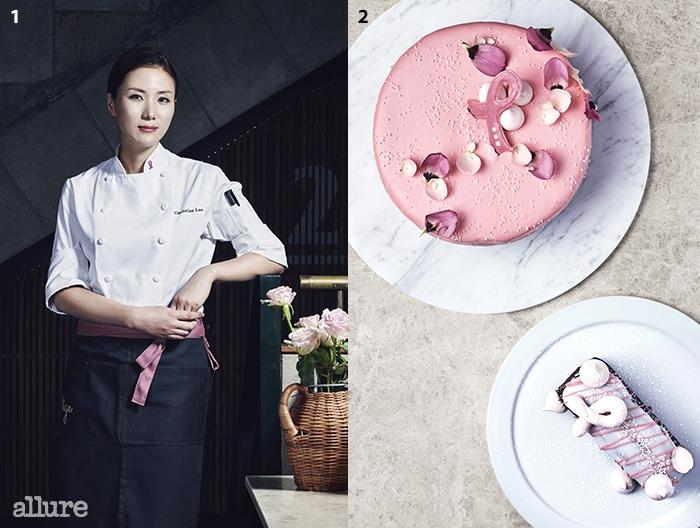 1 크리스틴은 한남동 세컨드 키친을 총괄하는 셰프다.업장이 끝난 밤 12시에도 그녀의 주방에는 불이 꺼지지 않는다. 2두 종류의 핑크리본 케이크