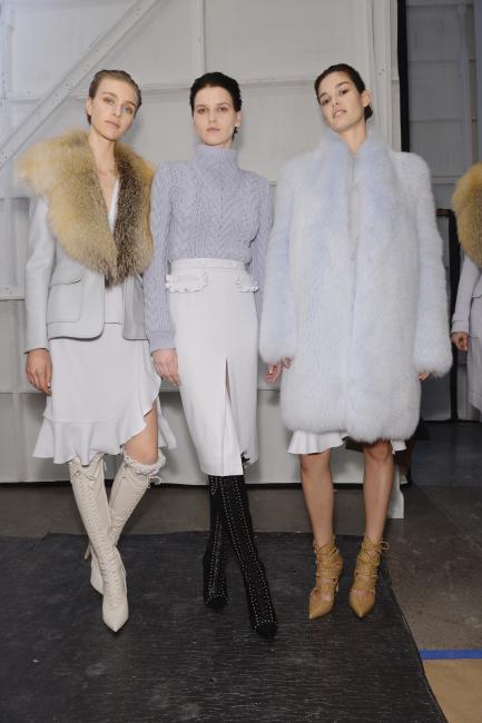 Altuzarra womenswear backstage, New York, Autumn/Winter 2015. Copyright James Cochrane February 2015. Tel +44 (0)7715169650 james@jamescochrane.net