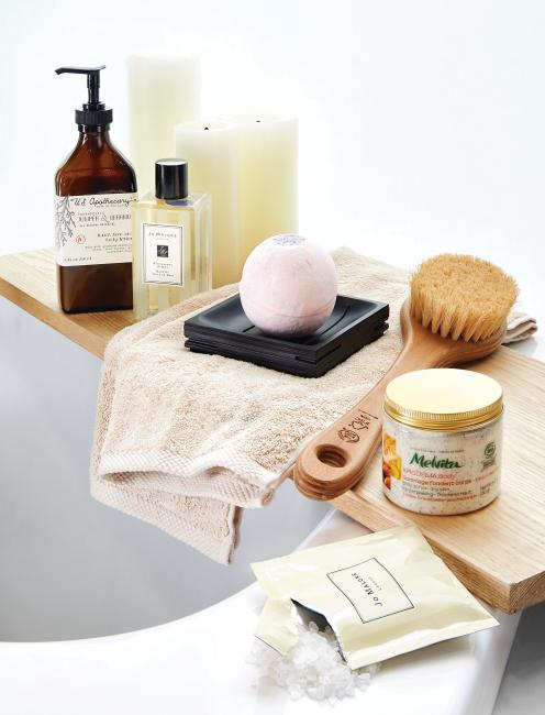 목욕용품들