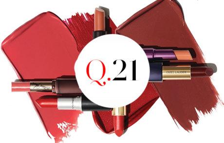 가장 자주 바르는 입술 컬러를 선택하세요.