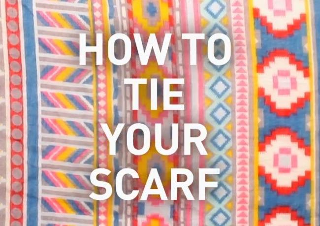 스카프매는법