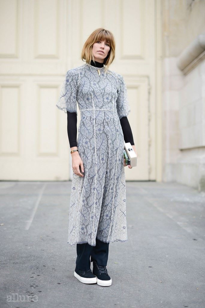 PARIS, FRANCE - SEPTEMBER 24: Veronika Heilbrunner poses wearing a K is for Kani dress on September 24, 2014 in Paris, France.  (Photo by Vanni Bassetti/Getty Images)