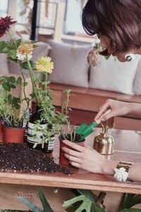 준영은 식물과 흙을 만지고 있으면 마음이 차분해진다고 말한다.