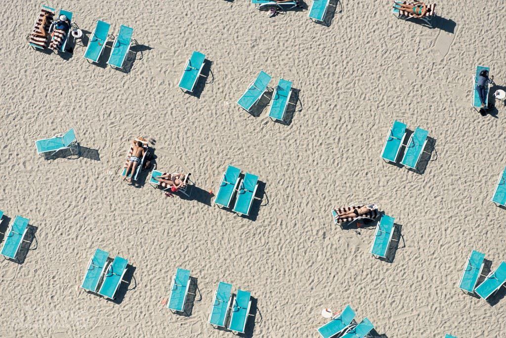 마이애미의 에센시아 호텔(Essencia Hotel) 해변.