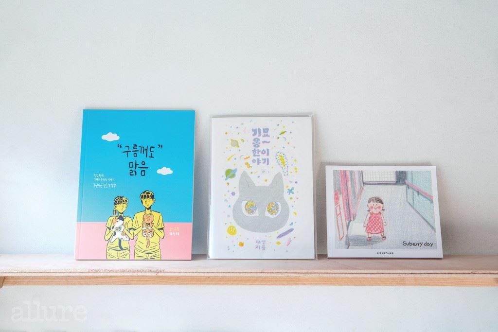 주인이 좋아하는 책 세 권.