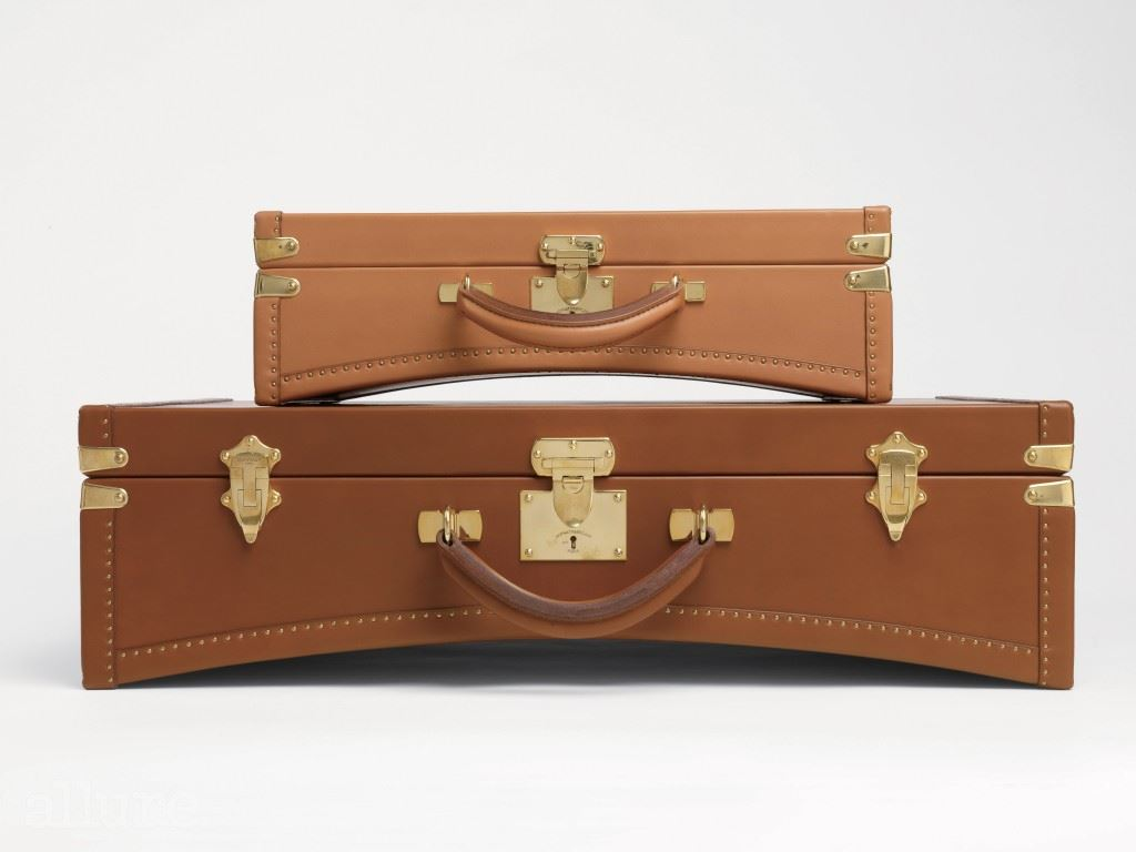 Limousine briefcase in cognac