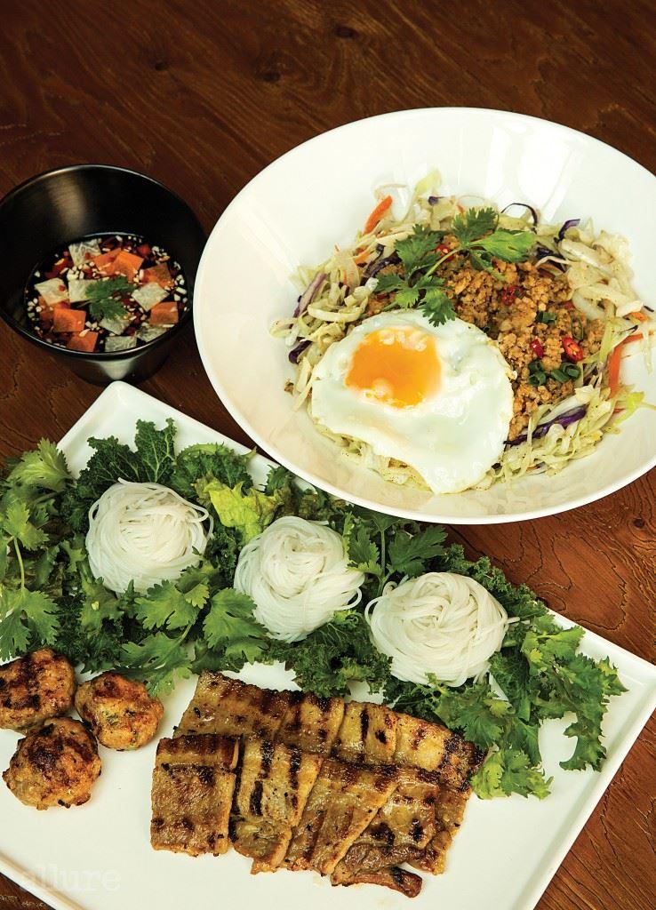 분짜와 베트남 가정식 덮밥.