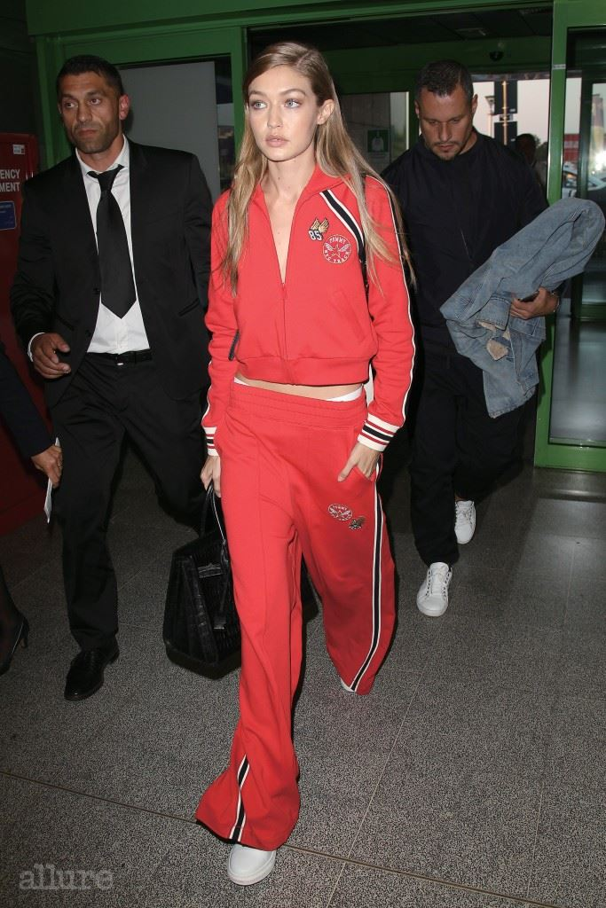 Gigi Hadid seen leaving Milan. Pictured: Gigi Hadid Ref: SPL1361662  240916   Picture by: Riptidepix.com / Splash News Splash News and Pictures Los Angeles:	310-821-2666 New York:	212-619-2666 London:	870-934-2666 photodesk@splashnews.com