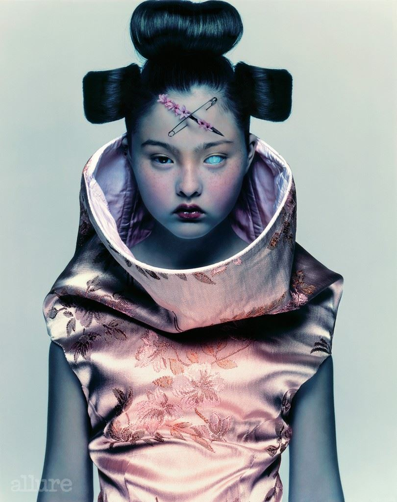 'Devon Aoki for Alexander McQueen.'