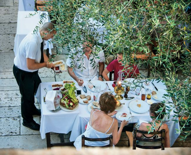 Eye Spy, small beautiful countryside towns in the French Riviera, La Colombe d'Or restaurant terrace