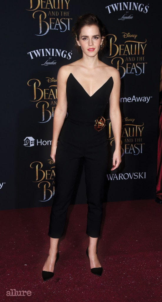LOS ANGELES, CA - MARCH 02:  Actress Emma Watson attends Disney's 'Beauty and the Beast' premiere at El Capitan Theatre on March 2, 2017 in Los Angeles, California.  (Photo by Frazer Harrison/Getty Images)