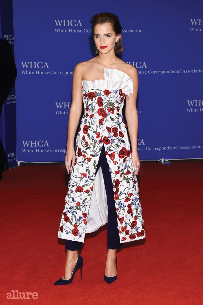 WASHINGTON, DC - APRIL 30:  Actress Emma Watson attends the 102nd White House Correspondents' Association Dinner on April 30, 2016 in Washington, DC.  (Photo by Larry Busacca/Getty Images)