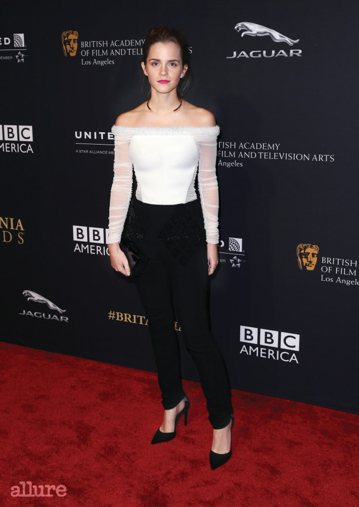 BEVERLY HILLS, CA - OCTOBER 30:  Actress Emma Watson attends the BAFTA Los Angeles Jaguar Britannia Awards presented by BBC America and United Airlines at The Beverly Hilton Hotel on October 30, 2014 in Beverly Hills, California.  (Photo by Frederick M. Brown/Getty Images)
