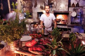 재료를 직접 재배하며 요리하는 에릭 워너의 레스토랑에서 찍은 사진.