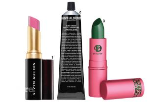 1 케빈 어코인의 더 매트 립 컬러 테나시어스. 3.5g 3만9천원 2 그로운 알케미스트의 핸드크림. 65ml 2만6천원. 3 립스틱 퀸의 프로그 프린스 립스틱. 3.5g 3만3천원.