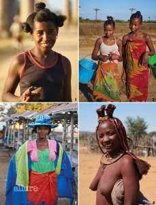 1 바오밥 나무가 있는 마다가스카르의 도시 모론다바. 바오밥 나무 열매를 팔고 있던 예쁜 소녀가 손에 든 것은 반찬용 고기다. 2 바오밥 나무가 있는 도시에 사는 아이들. 사진을 많이 찍혀본 것 같고 모델을 직업으로 삼고 있는 것 같다. 사진 찍는 것에 거부감이 없었다. 3 사진 찍는 데 부끄러움이 많았던 친구다. 카메라를 쳐다보는 눈빛이 인상 깊었다. 4 나미비아의 힌바족은 물이 부족하기 때문에 예전부터 피부와 몸을 모두 진흙으로 씻어왔다. 바오밥 나무는 이 부족의 생계 유지 수단이다.