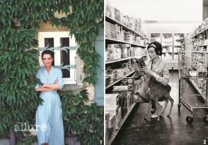 1 스위스 라페지블 앞에 선 오드리 헵번, 1985년 장남인 션 헵번 페러와 함께 오드리 헵번 아동기금을 설립한 차남 루카 도티가 가장 좋아하는 어머니의 사진이다. 2 로마 시내를 걷고 있는 오드리 헵번과 그의 남편 안드레아 도티, 1976년
