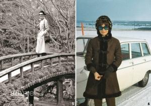 5 일본 교토 금각사에서, 1983년 도쿄에서 열린 지방시 30주년 회고전을 축하하는 오트 쿠튀르 패션쇼를 위해 가족과 함께 일본을 방문한 오드리 헵번. 2 안드레아 도티가 찍은 오드리 헵번, 1969년 검소한 생활을 했던 그녀가 겨울마다 즐겨 입은 코트.