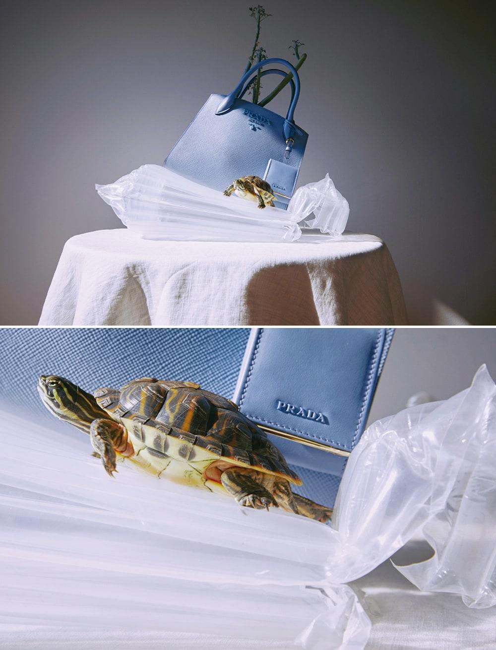 사피아노 가방은 프라다(Prada).